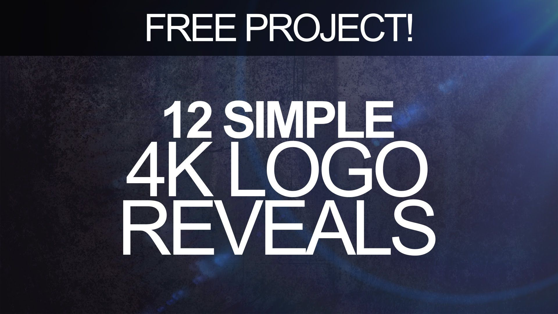 A selection of twelve, free logo reveal After Effects