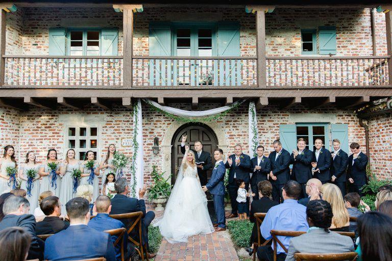1f40a93089df Wedding at Casa Feliz wedding venue, Winter Park Florida. Tickled Pink  Weddings + Events - Orlando Wedding Planner