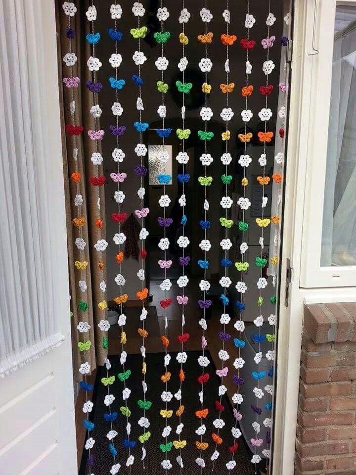 Vlinder Gordijn Haken Crochet Diy Curtains En Diy