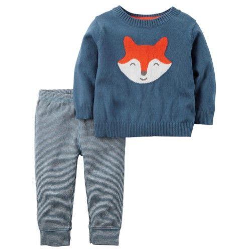 912ee5e6434b Carter s Blue Fox 2-pc. Sweater   Pant Set - Baby Boys newborn-24m ...