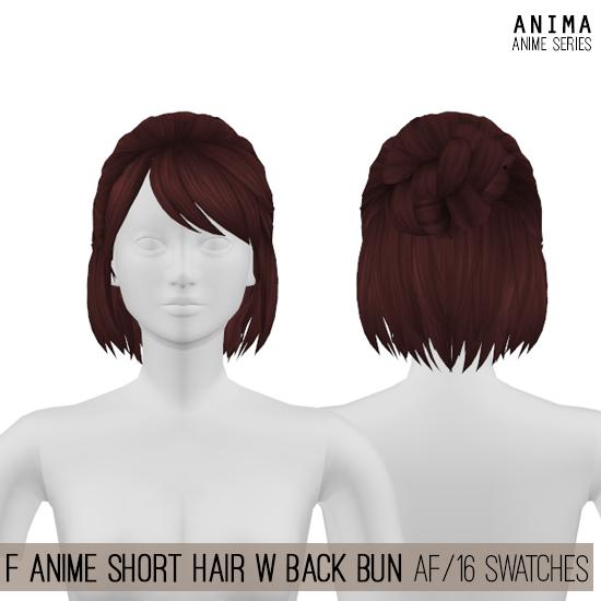 Photo of FemaleAnime Short Hair for The Sims 4 by Anima