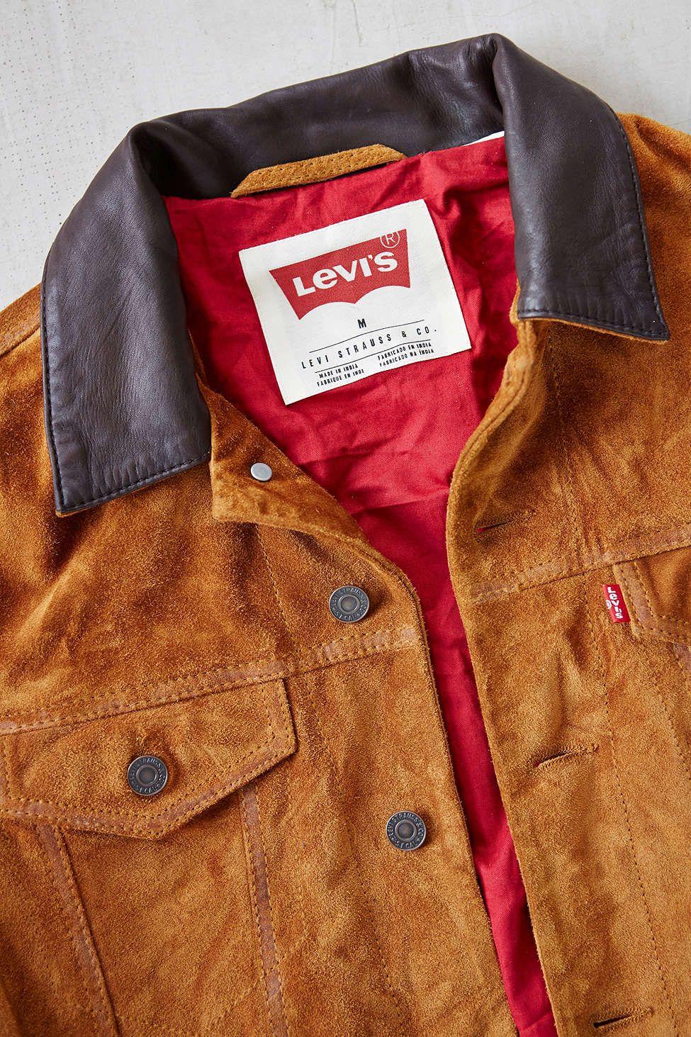 be6ffafc Levi's Suede Trucker Jacket | Dapper | Jackets, Suede jacket, Urban ...