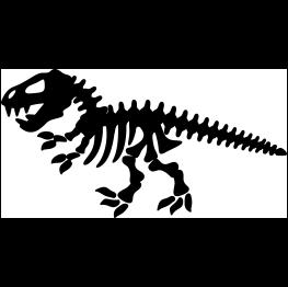 Dinosaur Skeleton Silhouette Dinosaur Stencil Dinosaur Silhouette Skeleton Silhouette