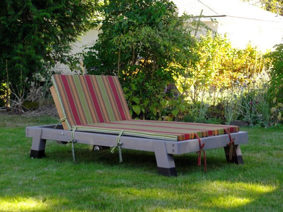 Chaise Lounge Double Wide From Reclaimed Wood Indoor