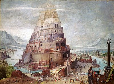 Tower Of Babel Pieter Bruegel The Younger Painting Reproduction Tower Of Babel Tower Babylon