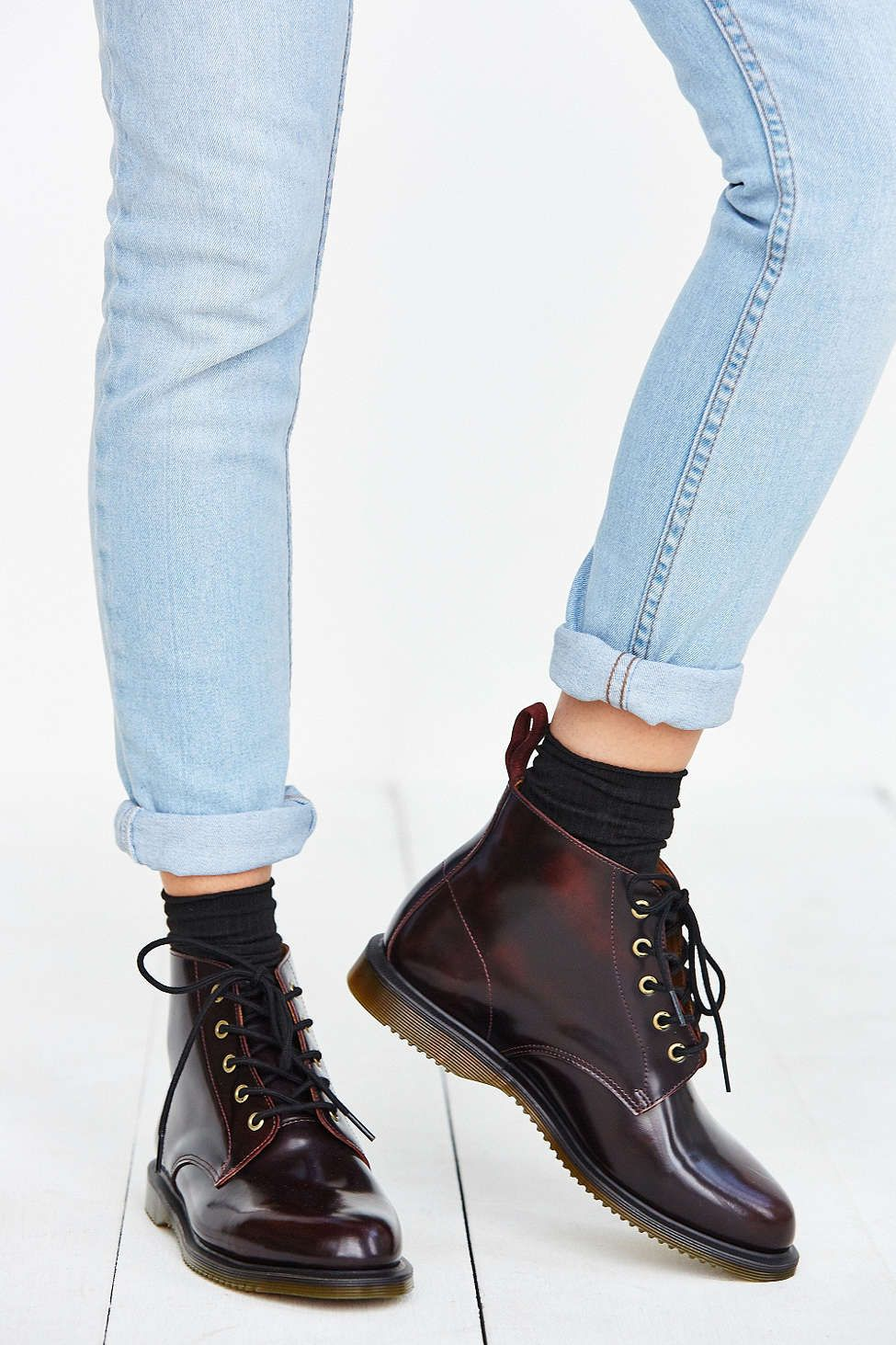 DR MARTENS 1460 WOMEN'S ARCADIA LEATHER LACE UP BOOTS
