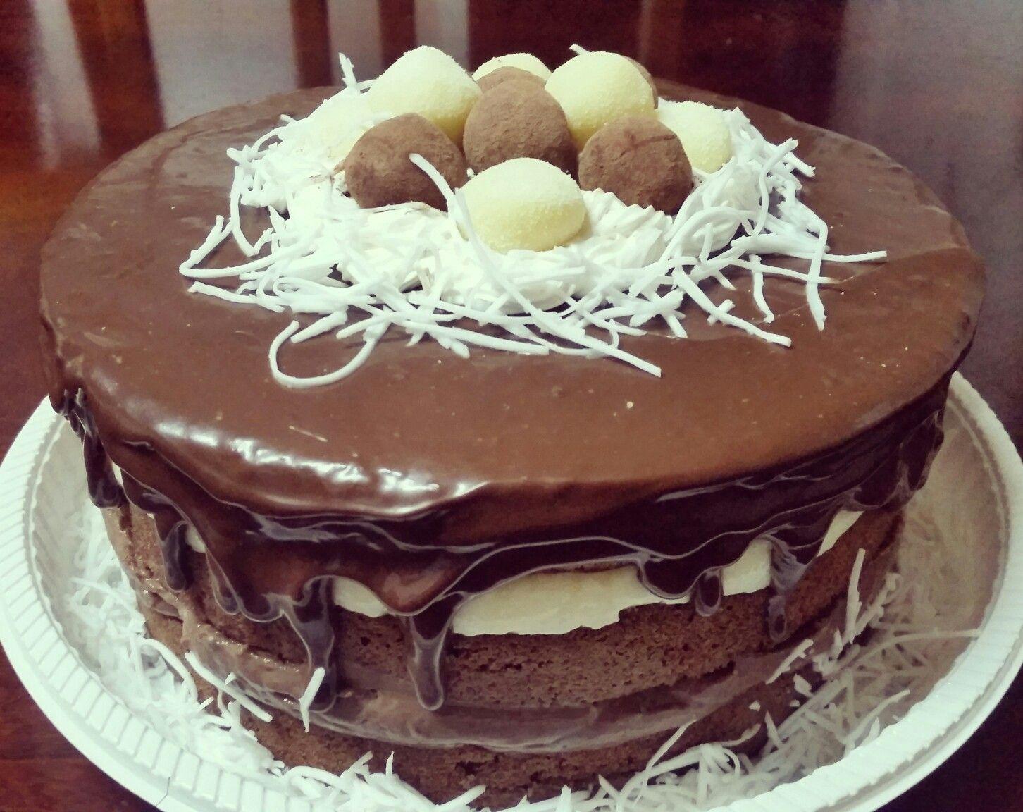 Naked Cake de prestígio #cerejadebolo