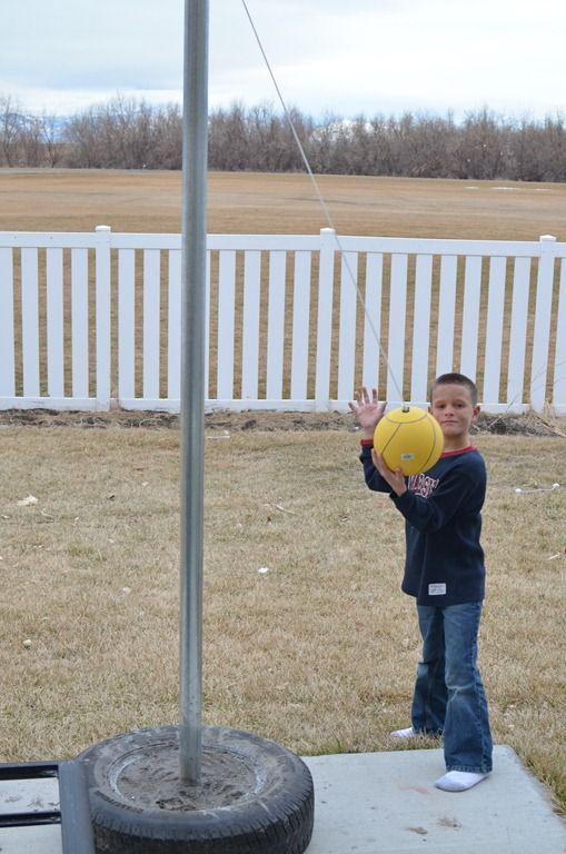 Diy Tetherball Tetherball Diy Kids Playground Backyard Playground