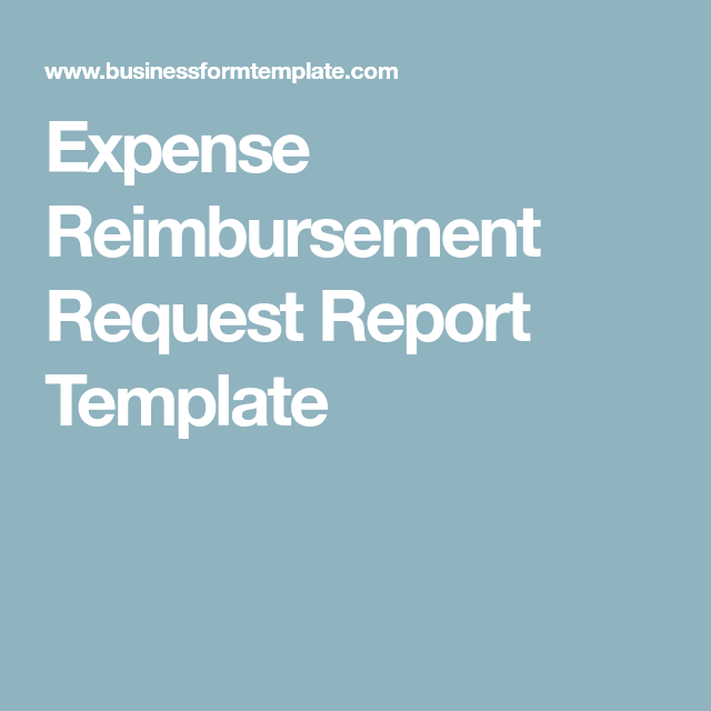 Expense Reimbursement Template Amazing Expense Reimbursement Request Report Template  Business Forms .