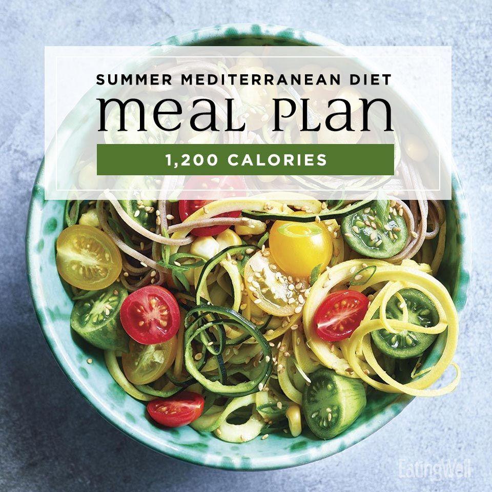 Mediterranean Diet Meal Plan for Summer: 1,200 Calories