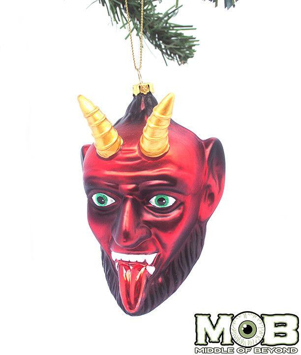Krampus The Christmas Devil Glass Ornament Devil, Ornament and Glass
