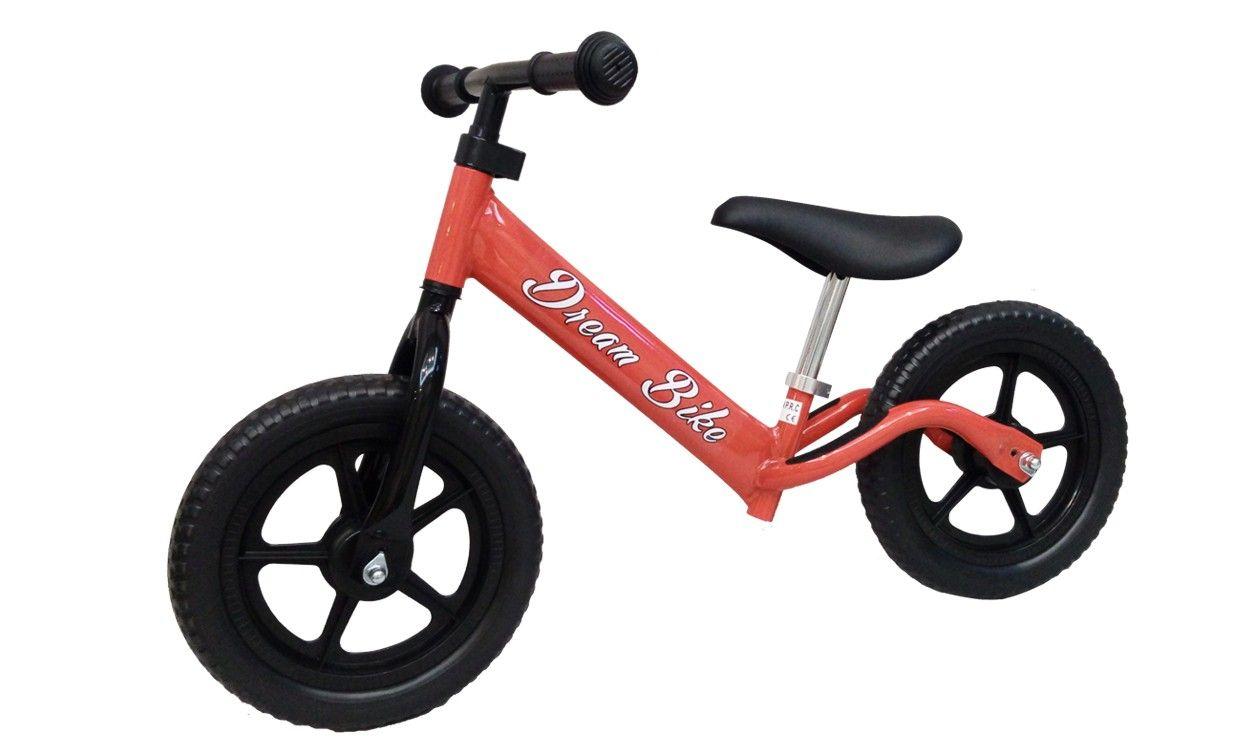 Bici senza pedali età 3-7 anni pedagogica per apprendimento equilibrio ROSSA