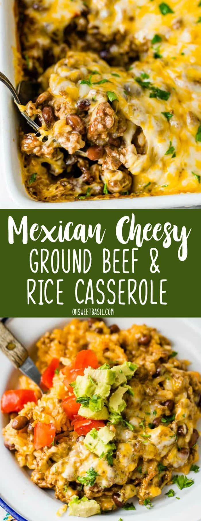 always looking for a quick and easy dinner idea and this Mexican Cheesy Ground Beef and Rice Casserole just became our favorite of 2018.