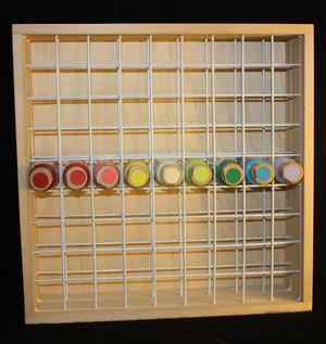 Wood And Wire Craft Paint Storage Rack Http Www Hofcraft