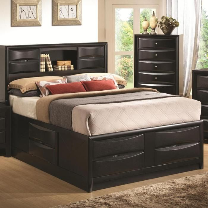 Briana Queen Storage Bed In Glossy Black Nebraska Furniture Mart Cheap Bedroom Furniture Traditional Bedroom Furniture King Bedroom Furniture