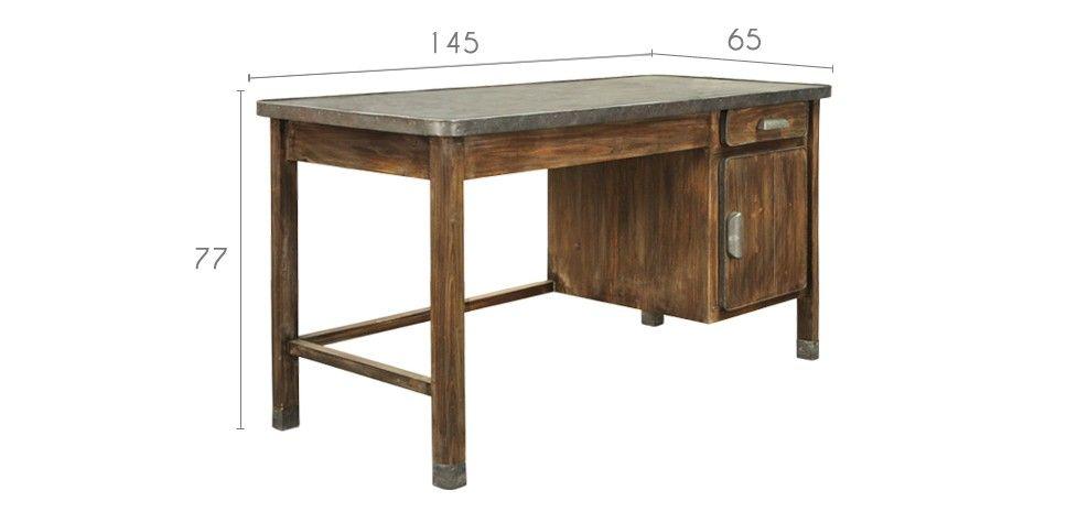 bureau en bois vieilli : achetez nos bureaux en bois vielli-RDV Déco