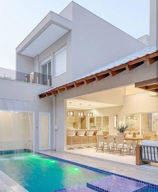 Parte Trasera Casas Con Alberca Casas De Ensueno Casas Modernas