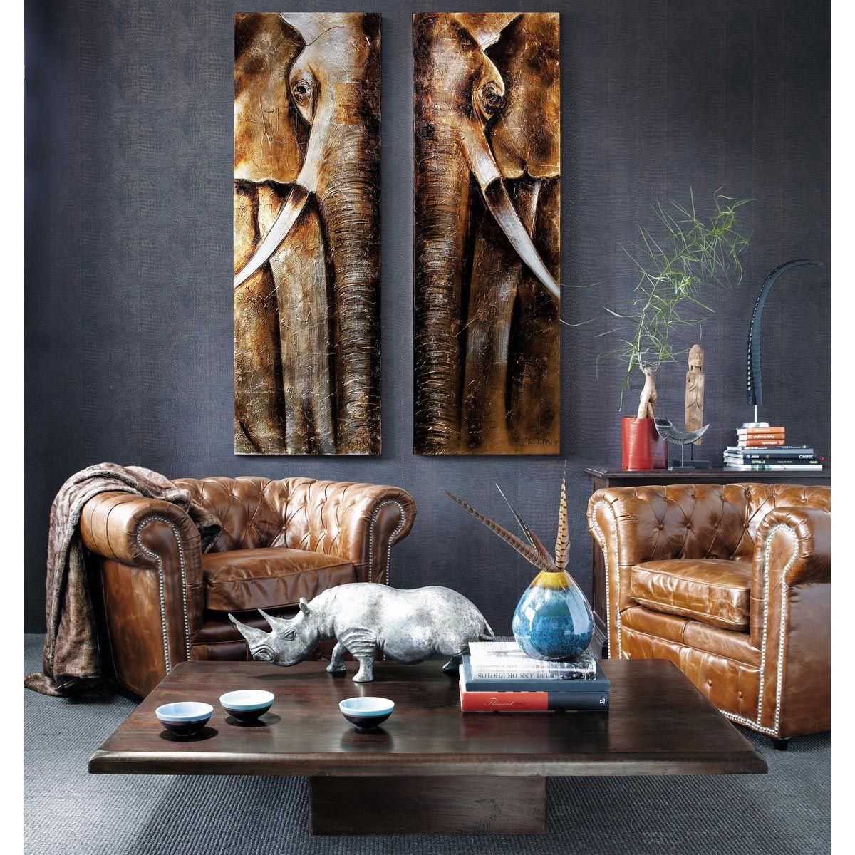 fauteuil capitonn en cuir marron id e deco pinterest. Black Bedroom Furniture Sets. Home Design Ideas