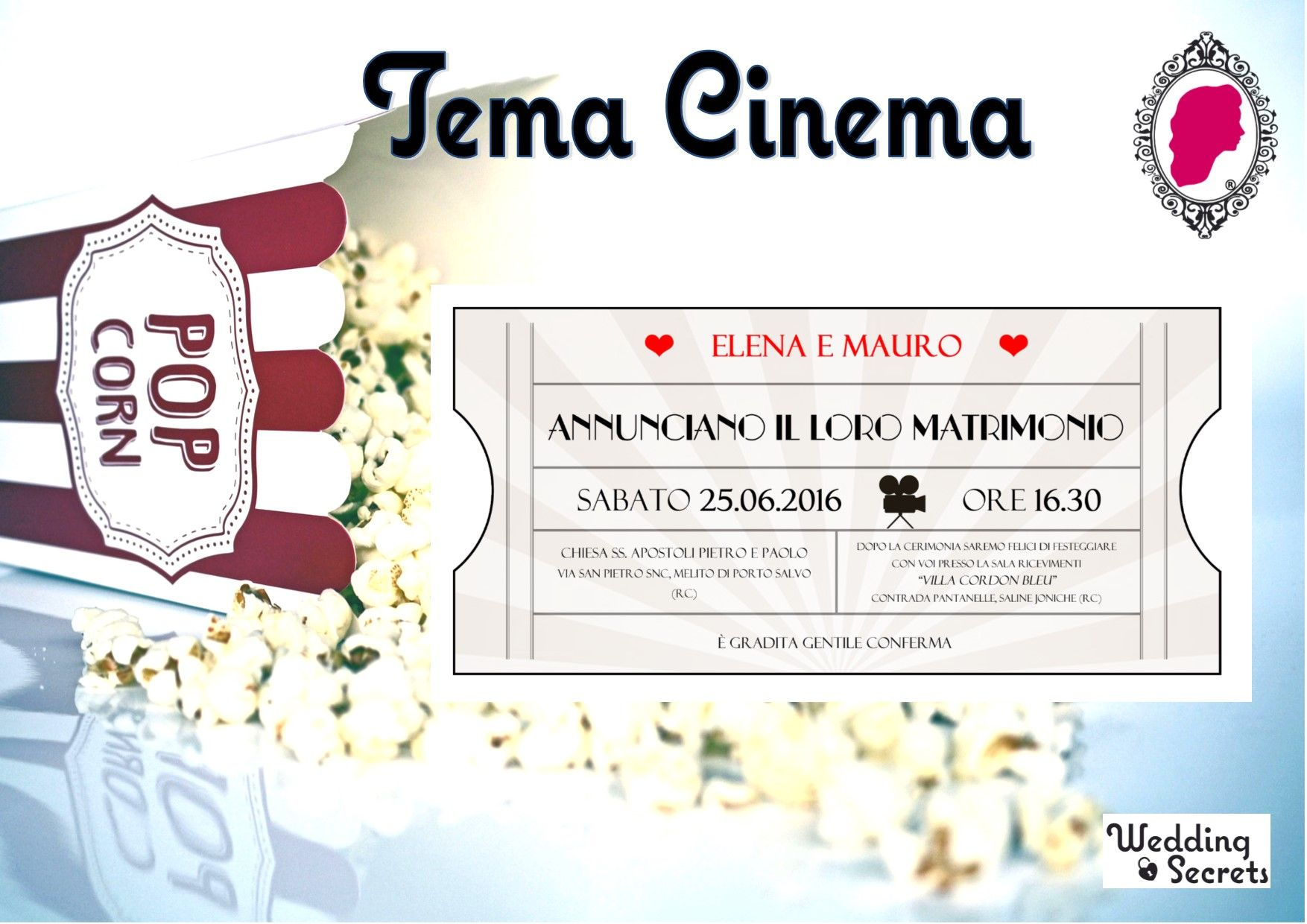 Partecipazioni Matrimonio Tema Cinema.Partecipazioni A Tema Cinema Per Il Tuo Matrimonio Perfetto
