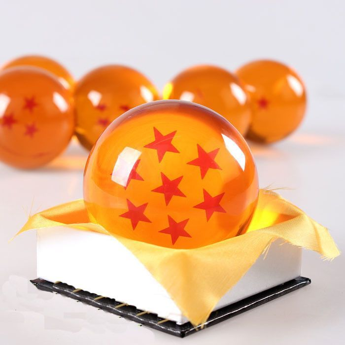 BrandNew 7 JP Anime DragonBall Z Stars Crystal Ball Collection Set with Gift Box