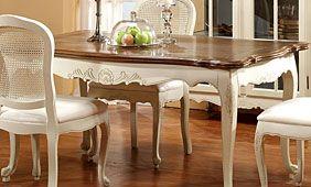Mesa de comedor Provenzal con sillas Versalles | sillas reciclada ...