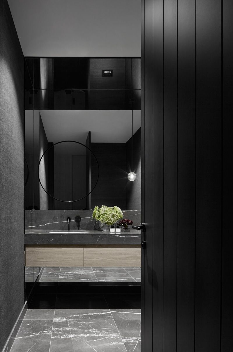 sense of balance and calm is theme throughout this home   interior contemporist mah residence mim design also rh pinterest