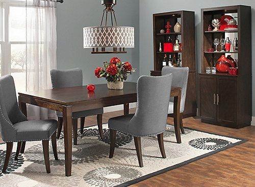 Perfect Drama Through Juxtapositionu2014the Glamour 5 Piece Dining Set Strikingly  Redefines The Formal Dining