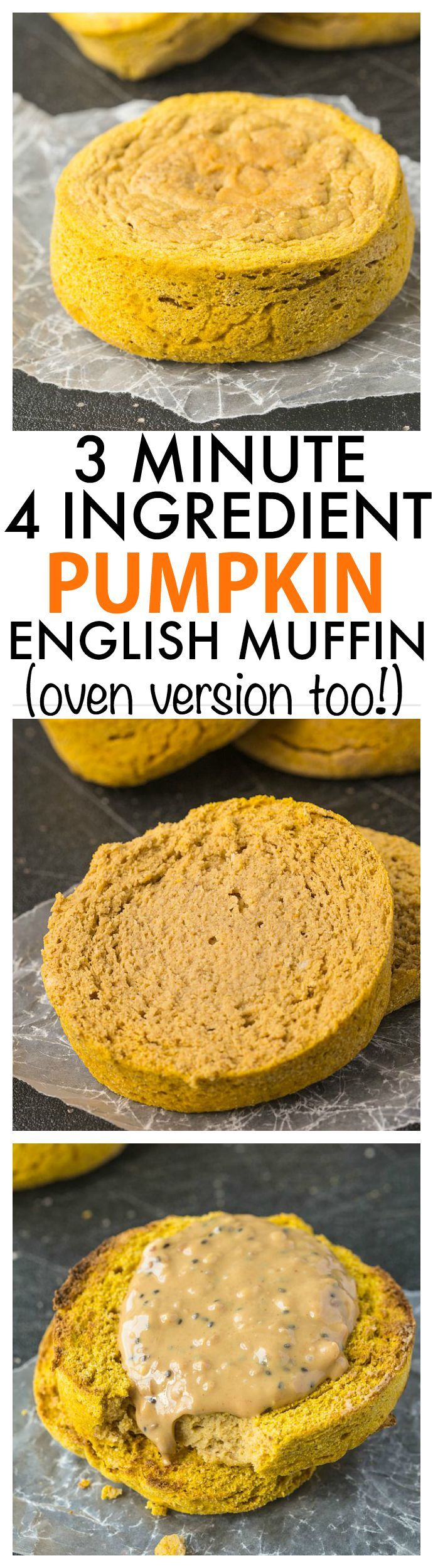 Pumpkin English Muffin vegan option available.Substitute flax egg for chicken egg.