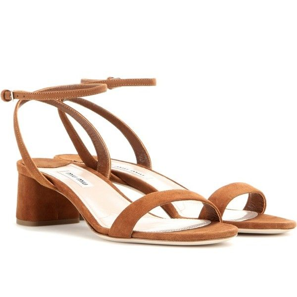 Miu Miu Suede Sandals (37.870 RUB) ❤ liked on Polyvore featuring shoes, sandals, brown, brown suede sandals, suede sandals, suede shoes, miu miu и brown suede shoes