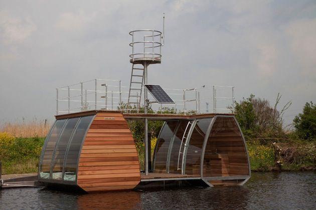 Floating Catamaran Ecolodge in The Netherlands