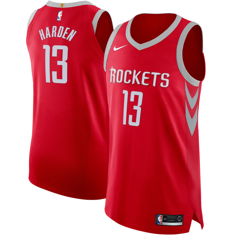online store 03f75 094f2 James Harden Houston Rockets Nike Authentic Jersey Red ...