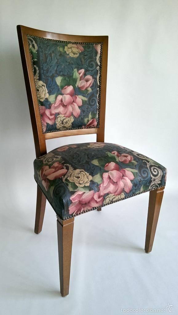 Silla tapizado flores en 2019 tapizar muebles sillas - Muebles para tapizar ...