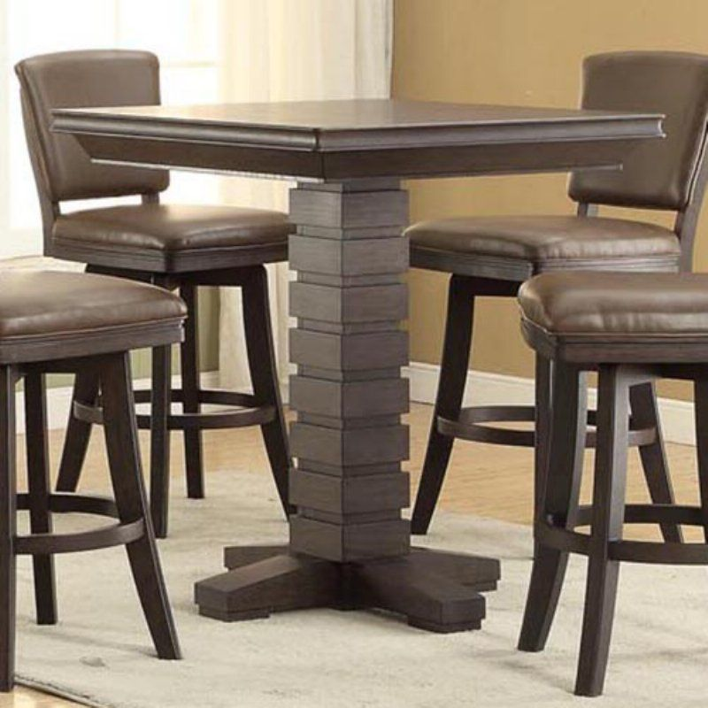 East Coast Innovations Toscana Distressed Birch 30 In. Counter Height Pub  Table   ECI421