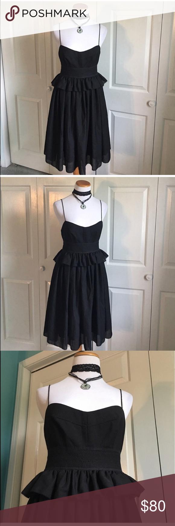 J Crew Block Corset Peplum Dress Midi Length Black Dress With Corset Design And Peplum Waist Size 4 In Excellent Con Peplum Midi Dress Clothes Design Fashion [ 1740 x 580 Pixel ]