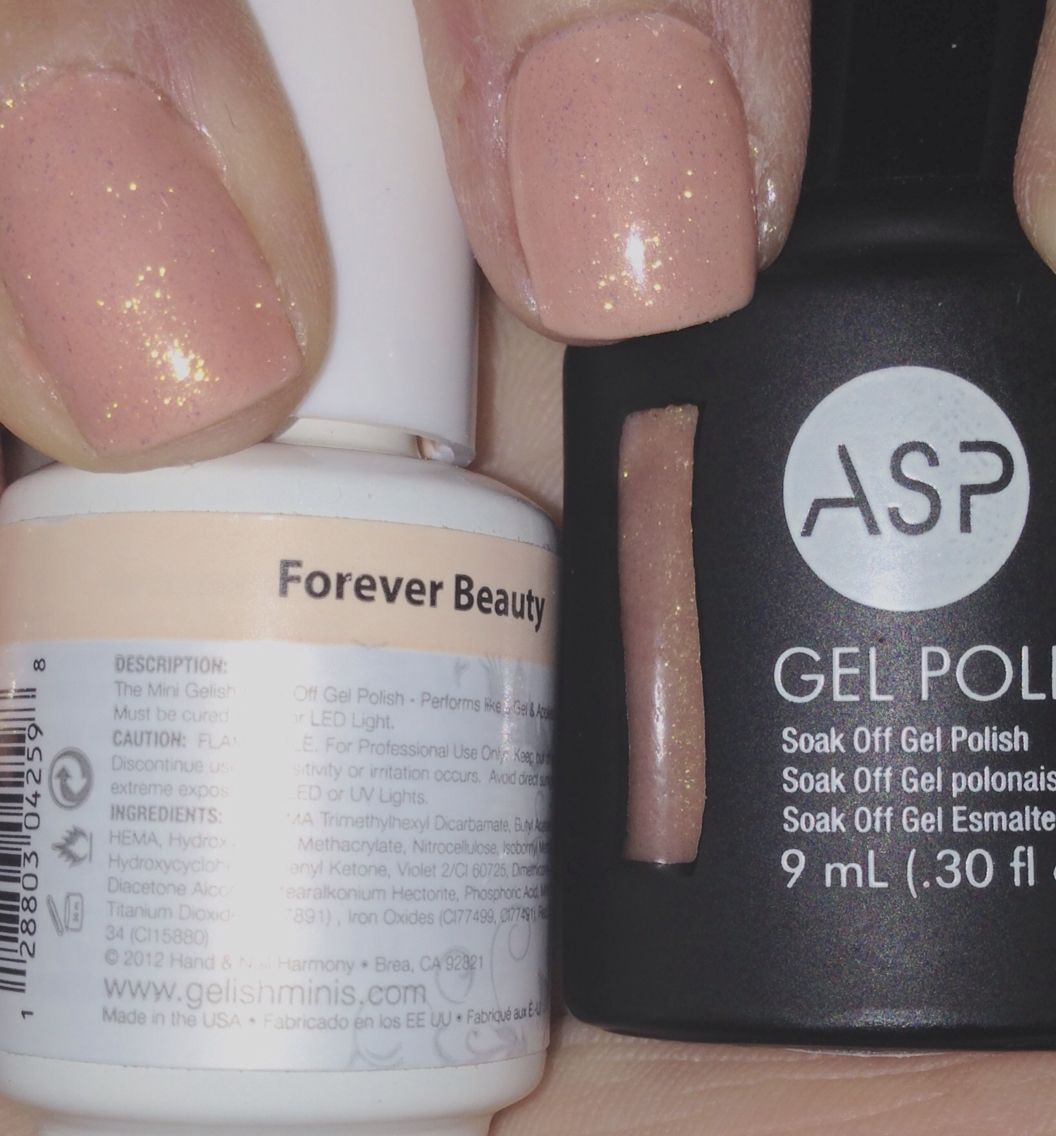 By Chelsi N I Used Gelish Mini Forever Beauty And Gel Polish Asp Golden Opportunity Used 2 Coats O Glitter Gel Polish Asp Gel Polish Gelish Nails