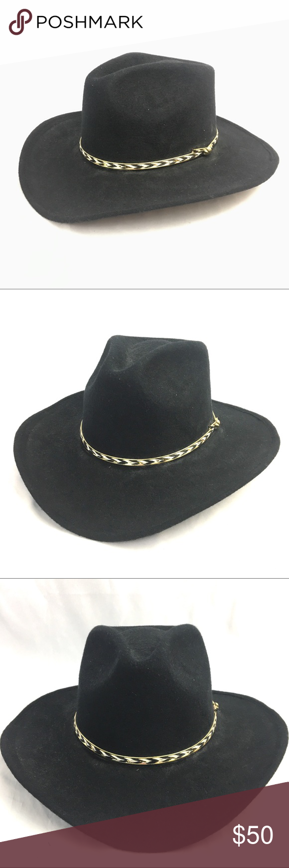 67dd13ca48b ... reduced pigalle cowboy hat mens size 7 1 2 black 7x felt pigalle texas  hat company ...
