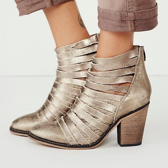 Free People Hybrid Heel Boot Gold
