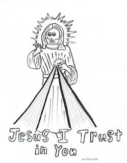 Divine Mercy Children S Coloring Page Divine Mercy Coloring
