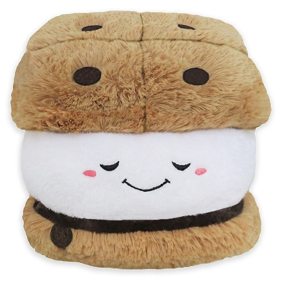 Squishable Mini S'more Toy In Brown - Bring tasty joy to your little one's world with the Squishable Mini S'More Toy. Flaunting a soft and snugly construction, this adorable plush is shaped into a tasty s'more snack, making it the perfect companion for your little one.
