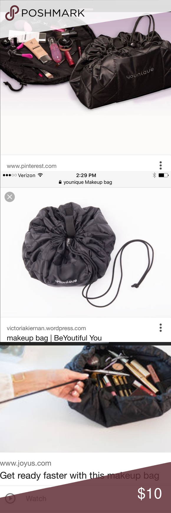 Younique Drawstring Makeup Bag New in Package Makeup not