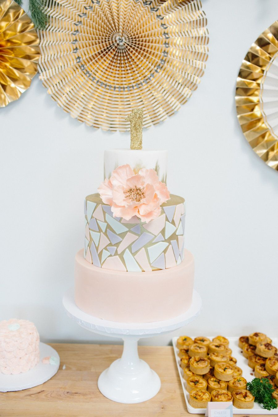 Modern Gold + Pastel 1st Birthday Party Filled with DIYs