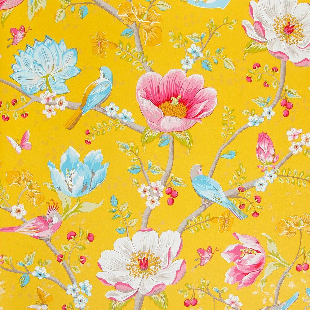 Flower Garden Wallpaper Background pip studio chinese garden yellow wallpaper   chinese garden, pip