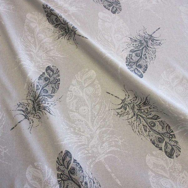 weiteres stoff meterware baumwolle natur federn wei grau ein designerst ck von werthers. Black Bedroom Furniture Sets. Home Design Ideas