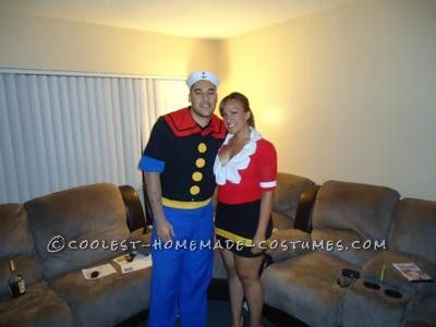 Coolest Popeye and Olive Oyl Costume Couples Costume  sc 1 st  Pinterest & Coolest Popeye and Olive Oyl Couples Costume | Costumes and ...