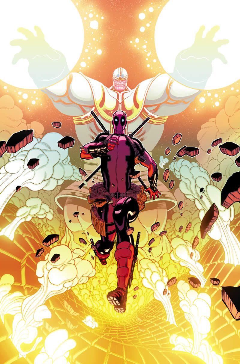 Deadpool_vs_Thanos_1_Cover_cacMarvel anuncia Deadpool vs Thanos #1, el cual será posiblemente uno de los comics más bizarros de los últimos tiempos.  En la entrega veremos a ambos personajes trabajando juntos para rescatar a Death, ya que como ustedes sabrán, los dos tienen como punto en común el haber tenido un amorío con esta bella fémina.