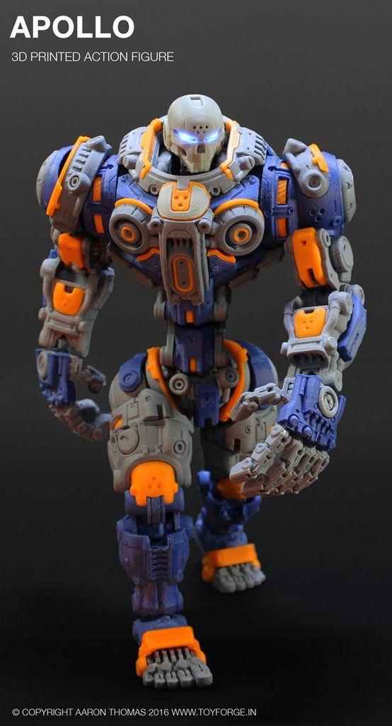 Apollo 3D Printed Action Figure (Assembled) Prints, 3d