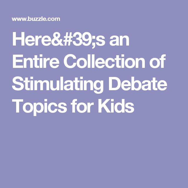 english language debate topics