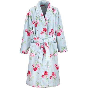 Snuggle up in this stylish dressing gown, made from a beautiful soft ...