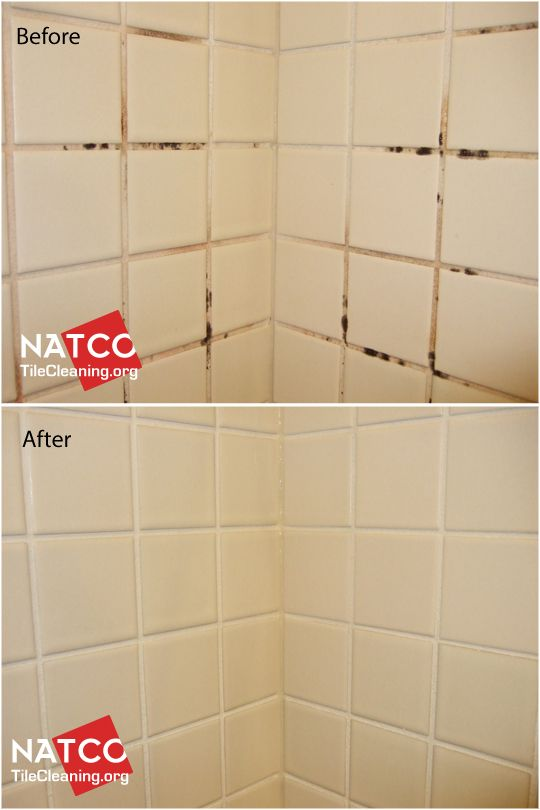 Colorsealing A Shower With Moldy Grout White Grout Mold Gets - Best way to clean white grout in shower