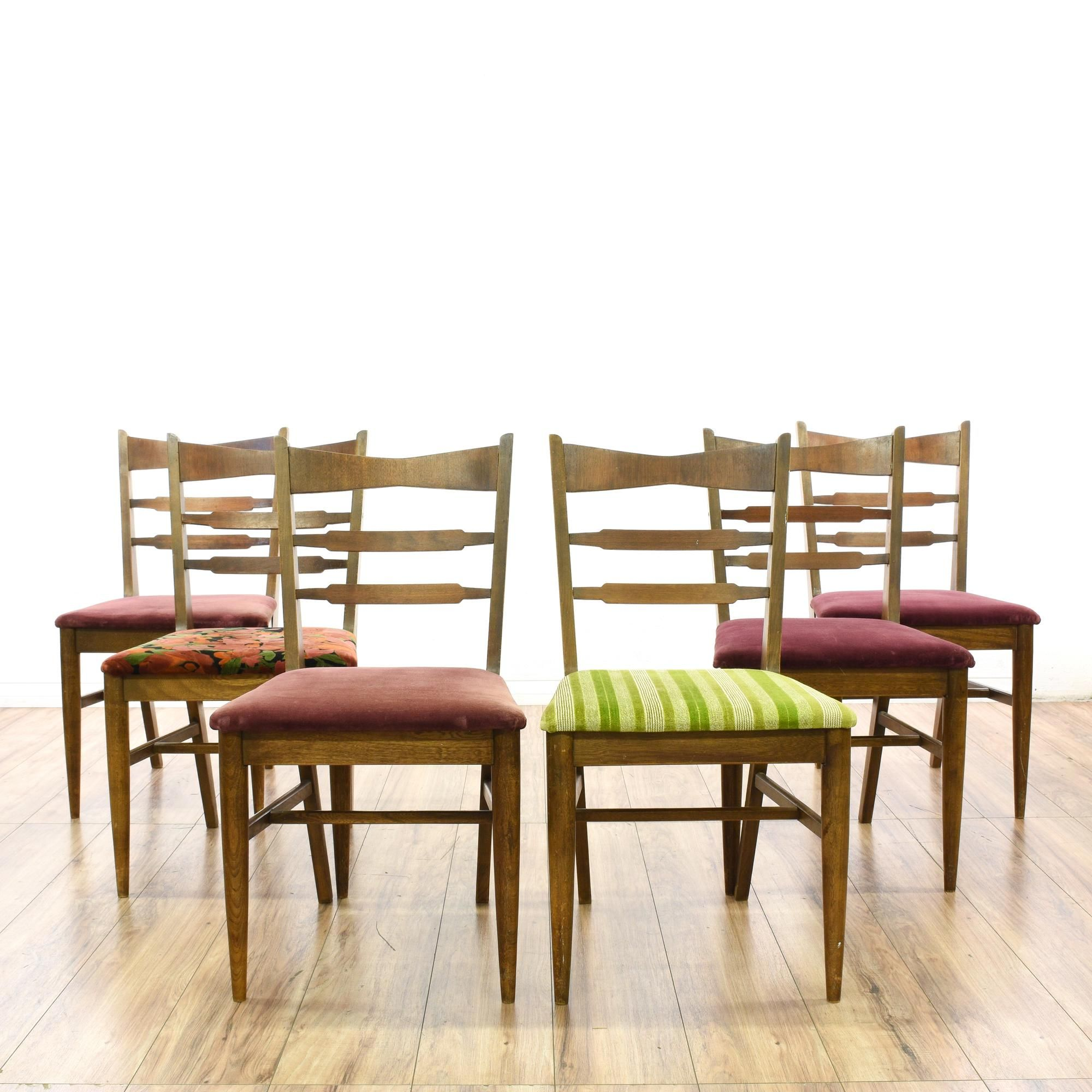 Each Mid Century Modern Style Side Chair Has An Upholstered Seat, Tapered  Legs, And H Stretcher Base. Fun ...